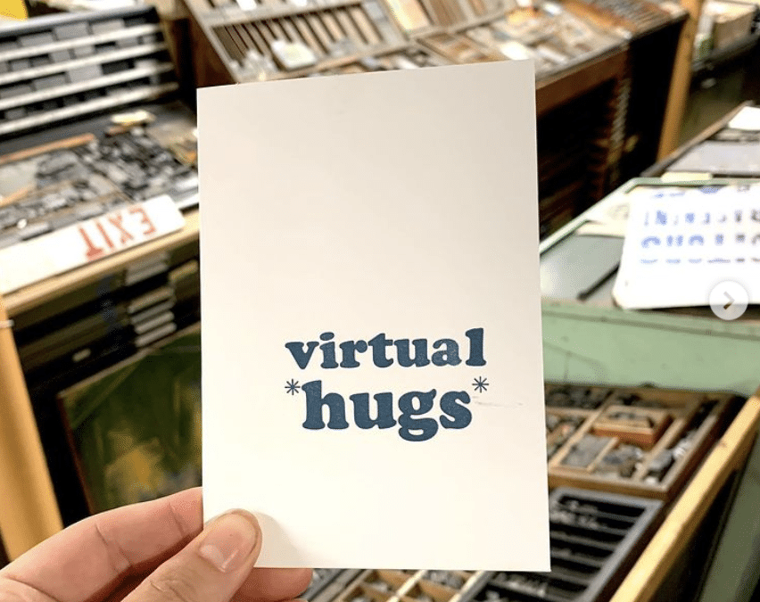 Virtual Hugs from us at Book Arts